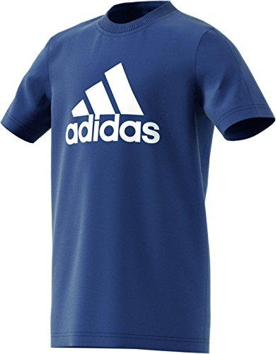 Adidas maglietta t-shirt con logo, ragazzo, logo, noble indigo/white, 140