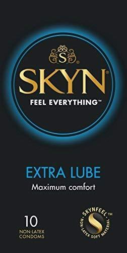 SKYN Extra geschmierte Kondome, 10Stück - Natürliche Gefühl Nicht Geschmiert Kondome
