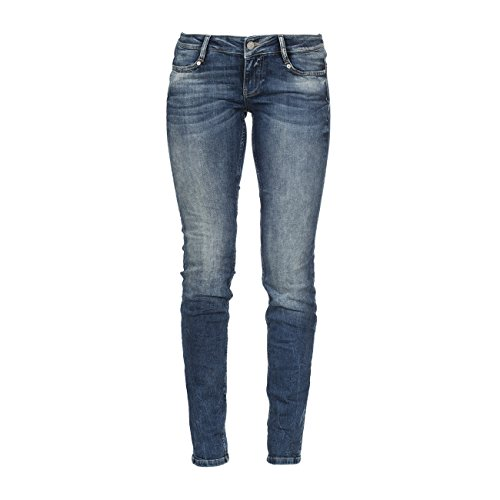 M.O.D Damen Straight Leg Jeans Alice Stretch niedriger Hüftsitz maryland blue 30/32