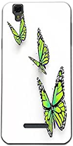 Snoogg Butterfly Isolated On White Designer Protective Back Case Cover For Mi...