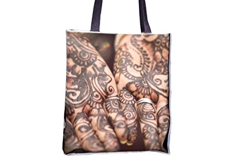 Henna, Hands, Mehendi, Pattern, Female allover printed totes, popular totes, popular womens' tote bags, professional tote bag, large professional tote bags, best tote bags, best large tote bags (Tote Pattern Professional)