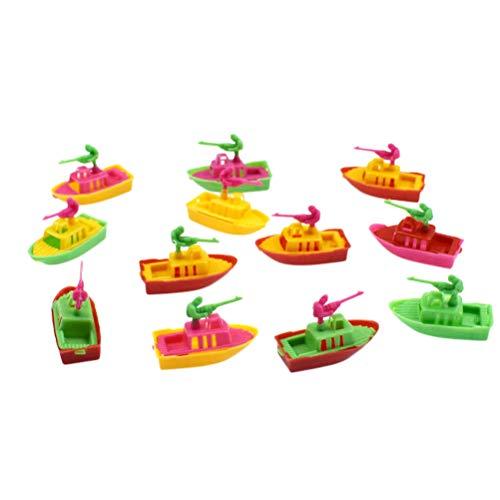 Toyvian 20 stücke Mini Kunststoff Schnellboot Modell Simulation Kampfboot Spielzeug für Kinder Kleinkind (Mischfarbe)