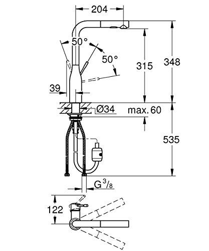 Grohe – Essence Küchenarmatur mit herausziehbarer Spülbrause - 9