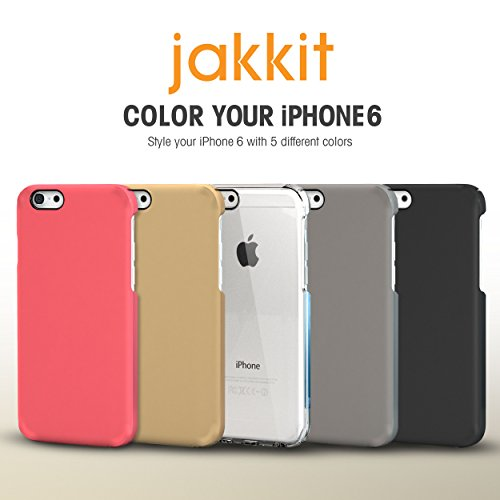 iPhone 6s Case, roocase [Jakkit] iPhone 6s Ultra Slim Fit Lightweight Case Cover for Apple iPhone 6 / 6s (2015) [Scratch Resistant and Corner Protection], Crystal Clear Magenta
