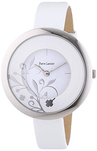 Pierre Lannier 020G600 - Reloj analógico de cuarzo para mujer con correa de piel, color blanco