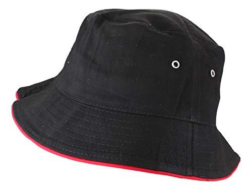 2Store24 Fischerhut in black/red Größe L/XL