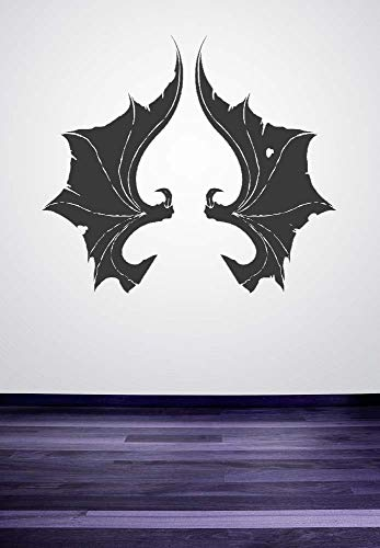 Vampire Halloween Urlaub Decoative Wandmalereien Fledermausflügel Muster Kunst Vinyl Wandaufkleber Für Zuhause Cool Decor Tapete Wm 45x51 cm