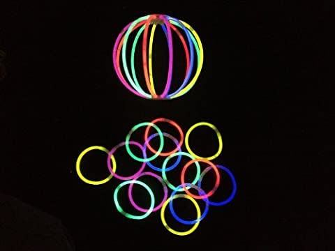 100 8inch Glow Light Stick Bracelets Wholesale Pack Glowchampion