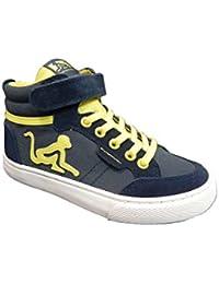 Sneakers blu con chiusura velcro per bambini Drunknmunky