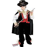 VENEZIANO Novidea Costume Vestito Carnevale Bambino Zorro Cavaliere 3 4 5 6  7 8 9 10 b1451b76a1c0
