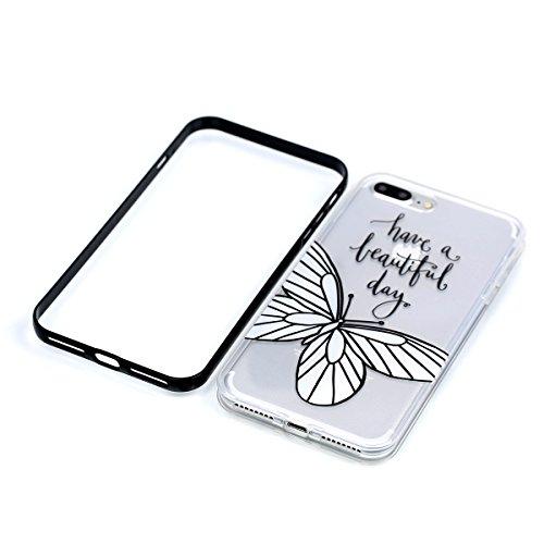 Apple iPhone 8 Plus 5.5 Hülle, Voguecase Schutzhülle / Case / Cover / Hülle / 2 in 1 TPU Gel Skin (Elefanten 06) + Gratis Universal Eingabestift Weiße Blumen 05