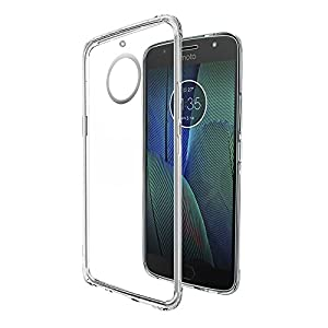 Amazon Brand - Solimo Moto G5s Plus Mobile Cover (Soft & Flexible Back case), Transparent