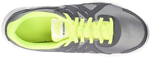 Nike Revolution 2 Gs, Chaussures de Sport Garçon gris (Wolf Grey/Black-Dark Grey-Blk)