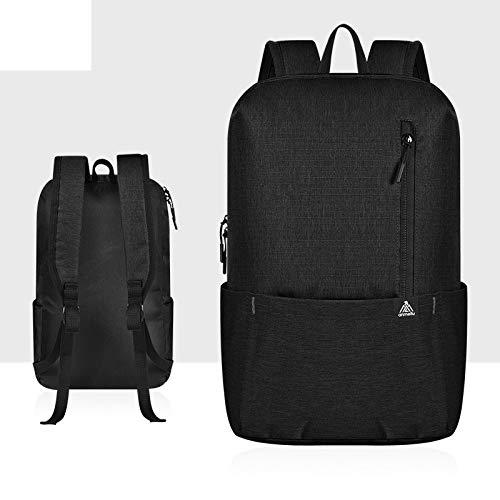 LyrbeibeiTravel Faltbarer Rucksack Leichte Damen Herren Sporttasche 10L Schultaschen Bagpack UltraaußentascheSchwarz Farbe