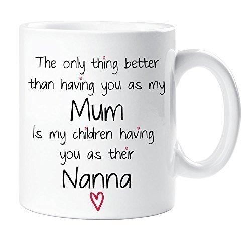 Mamma mia nonna-tazza per bambino, ottima idea regalo per la festa della mamma, grazie in ceramica