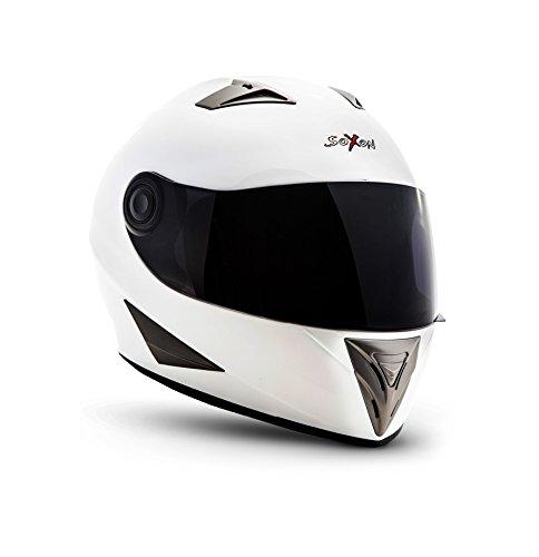 Preisvergleich Produktbild SOXON ST-550 Snow · Sport Scooter-Helm Integral-Helm Helmet Motorrad-Helm Roller-Helm Sturz-Helm Cruiser Urban · ECE zertifiziert · inkl. Sonnenvisier · inkl. Stofftragetasche · Weiß · L (59-60cm)