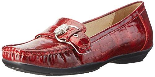 Andrea Conti 0870500, Mocassins Femme Rouge - Rot (Vino 054)
