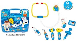 Toys Bhoomi Travelling Doctors Mini Medical Clinic Suitcase Set with Stethoscope - 9 Pieces