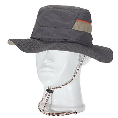 Crazy Cart Outdoor Polyester Angeln Cap Cowboy Hat & Elastic Schweißband, damen Herren, CN-Dark Grey