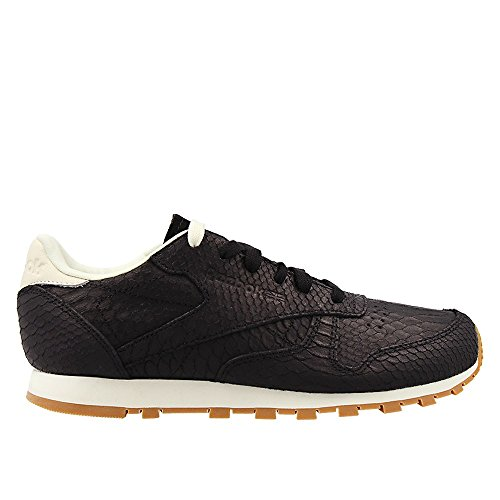 Reebok Classic Leather Clean Exotics Femme Baskets Mode Noir Noir