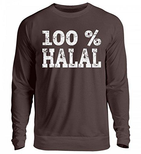 Hochwertiger Unisex Pullover - Islam 100% Halal Geschenk Muslim Türkei Saudi Arabien Ramadan Islamische Kleidung für Muslime