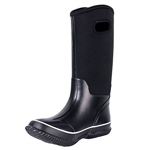 WTW Rain Boots For Men`s Wellington Boots Men`s Rain Shoes Black Color