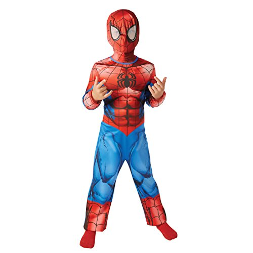 (Comic Helden Spidermankostüm - L, 8 - 10 Jahre, 135 - 146 cm - Kinder Ultimate Spiderman Kostüm Marvel Avengers Spinne Heldenkostüm Spider Superheldenkostüm)