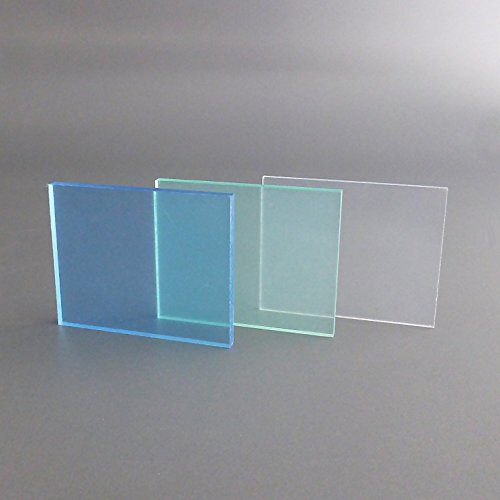 PLEXIGLAS Zuschnitt Acrylglas Zuschnitt 2-20mm Platte glasklar Top (2 mm, 400 x 400 mm) - 3