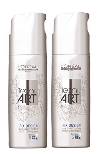 Loreal Fix (2x Loreal tecni.Art Fix Design[5] Vapo Haarlack neue Serie - 200ml)