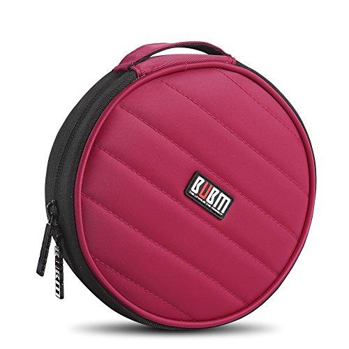 bubm-nylon-32-kapazitat-weicher-beutel-auto-cd-halter-dvd-blu-ray-tragen-brieftasche-rot