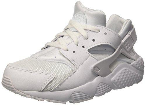 Nike Jungen Huarache Run Ps Laufschuhe für Das Training auf Der Straße, Bianco (White/White/Pure Platinum), 34 EU