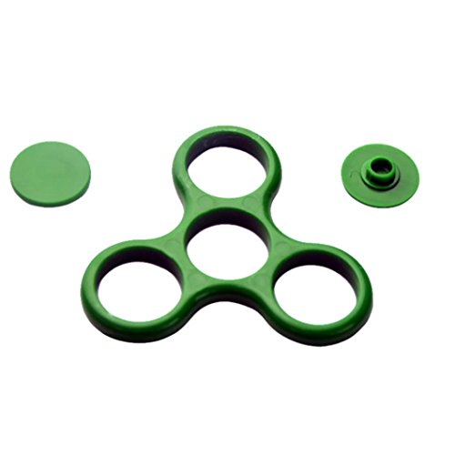 Preisvergleich Produktbild Tri-Spinner Fidget Spielzeug Zubehör, Ersatz Rahmenschale Kunststoff Without Bearing Für Fidget Spielzeug durch Boom (7.5 x 7.5cm, grün)