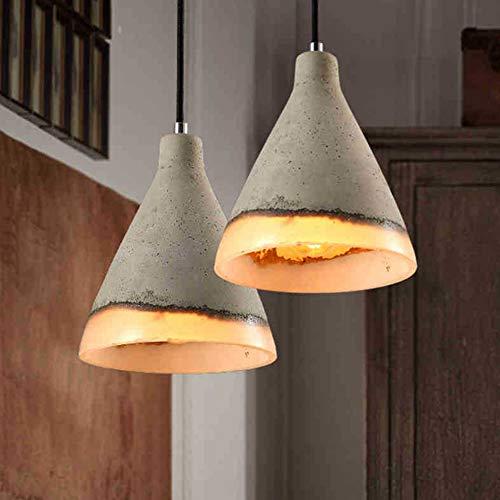 Hxyt moderno lampadario in resina minimalista, paralume rotondo monotesta in cemento/adatto per arredo camera da letto soggiorno (e27)