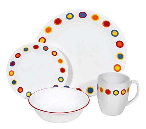 corelle-16-piece-vitrelle-glass-hot-dots-chip-and-break-resistant-dinner-set-service-for-4-red-yello
