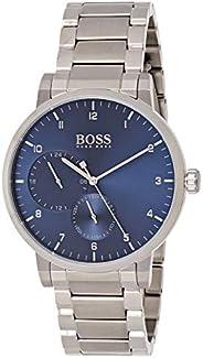HUGO BOSS BLACK MEN'S BLUE DIAL STAINLESS STEEL WATCH - 151