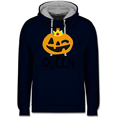 Shirtracer Halloween - Halloween Queen Kostüm - XS - Navy Blau/Grau meliert - JH003 - Kontrast ()