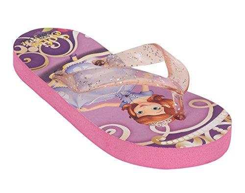Lil Firestar Kids Girls Casual Flip Flops & House Slippers_Purple & Pink_2.5 UK