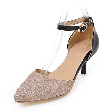 LvYuan Sandali-Matrimonio Serata e festa Formale-Altro Club Shoes D'Orsay-A stiletto-Finta pelle-Argento Dorato Gold