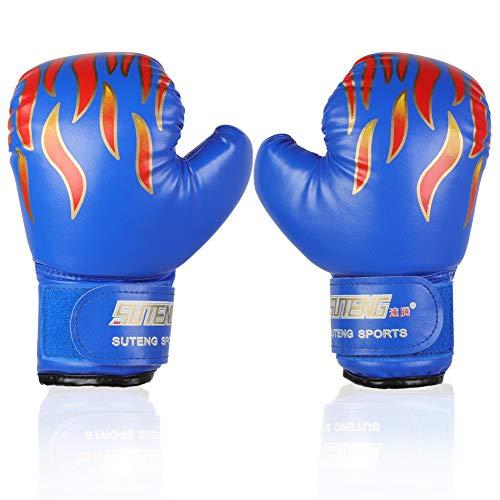 PU Kinder Boxhandschuhe Trainingshandschuhe für Kinder von 3-12 Jahre ( Farbe : Blau )