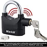 marklif Anti Theft System Security Pad Lock with Burglar Smart Alarm Siren Motion Sensor Secure for Home Door gate Cycle Shop Bike Office Shutter (Black)