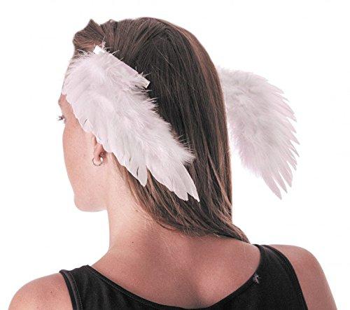 Party Pro 333204weiß Engel Flügel auf Clips, mehrfarbig