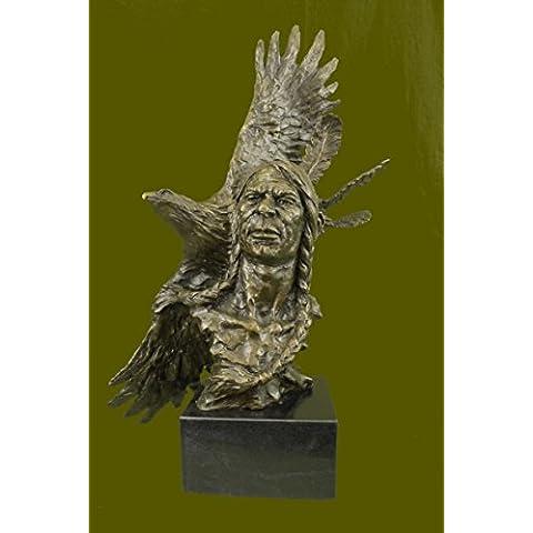 Statua di bronzo Scultura...Spedizione Gratuita...26