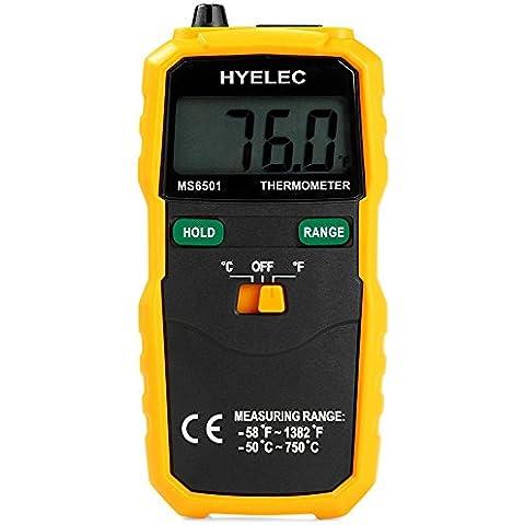 SmartLife HYELEC MS6501 Termómetro Medidor Digital Inalámbrico de Temperatura de Tipo K Pantalla