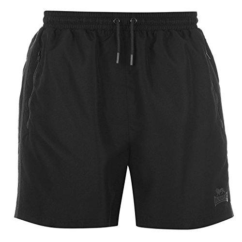 Multi-stripe Mesh (Lonsdale Two Stripe Woven Herren Shorts Sporthose Kurze Hose Elastische Bund Black/Charcoal M)
