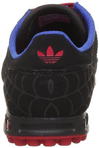 adidas Originals  La Trainer Disney K,  Sneaker Unisex - Bambini Nero (Black 1/Vivid Red S13)