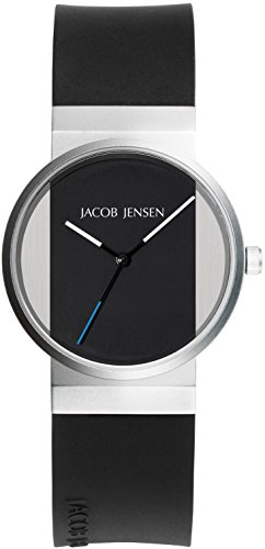 JACOB JENSEN Damen-Armbanduhr JACOB JENSEN NEW SERIES ITEM NO. 722 Analog Quarz Kautschuk JACOB JENSEN NEW SERIES ITEM NO. 722