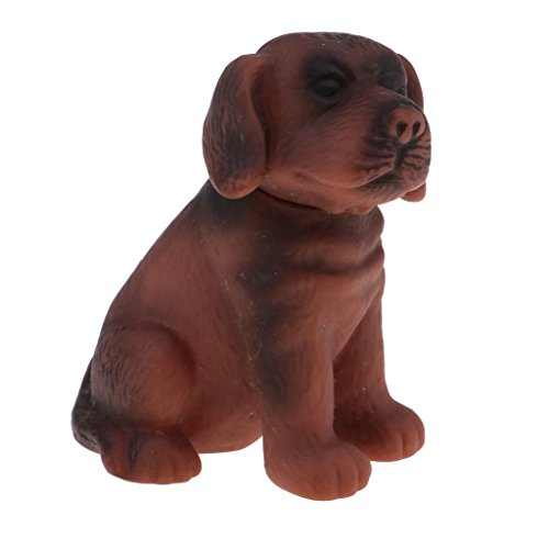Homyl Miniatur Hunde Chihuahua / Labrador Retriever Haustier Tier Modell für 1/6 Puppenhaus Wohnzimmer Zubehör - Labrador Retriever - Braun -