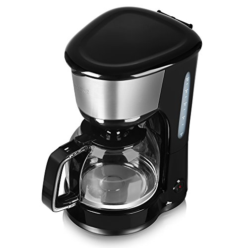 41nAKgGm2OL. SS500  - Tower 10 Cup Coffee Maker, Anti-Drip Feature, Stainless Steel, 1000 W, 1.25 Litre, Black