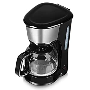 Tower T13001 10 Cup Coffee Maker, Anti-Drip Feature, Stainless Steel, 1000 W, 1.25 Litre, Black