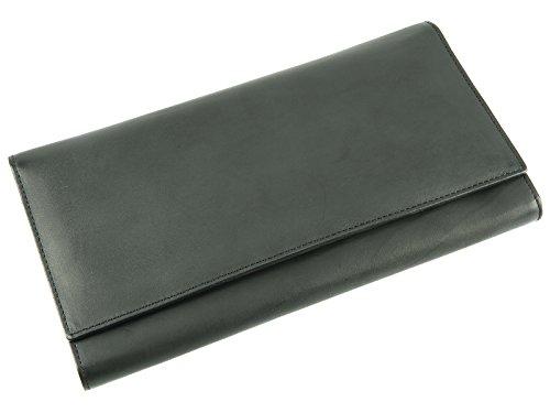 Visconti Leder-Tasche für Pass, Tickets, Karten, 1179 Schwarz